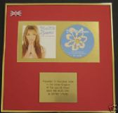 BRITNEY SPEARS  - CD Album Award - BABY ONE MORE TIME